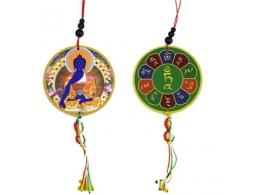 Amulett - autosse või aknale - Medicine Buddha ja Dorje