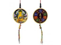 Amulett - autosse või aknale - Buddha ja Dorje