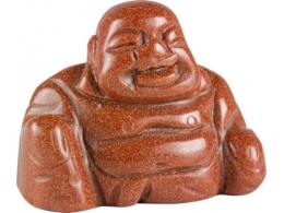Kuldkivi - punane kuldkivi - nikerdatud Buddha - UUS