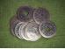 Hiina õnnemündid - amuletid - 3 münti paelaga kokkusõlmitud - UUS