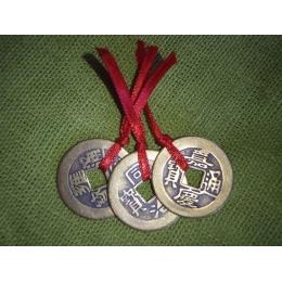 Hiina õnnemündid - amuletid - 1 suur münt