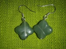 Aventuriin - roheline - kõrvarõngad