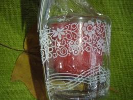 Lõhnaküünal - kristallidega - punane tiigrisilm