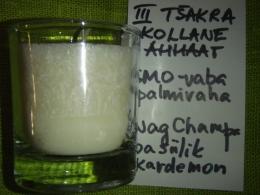 Lõhnaküünal - kristallidega - kollane ahhaat - UUS