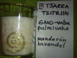 Lõhnaküünal - kristallidega - tsitriin