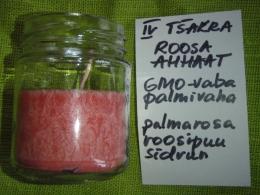 Lõhnaküünal - kristallidega - roosa ahhaat