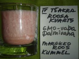 Lõhnaküünal - kristallidega - roosa kvarts