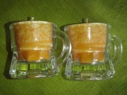 Lõhnaküünal - kristallidega - karneool - klaasis - UUS