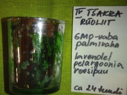 Lõhnaküünal - kristallidega - roheline rüoliit