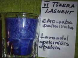 Lõhnaküünal - kristallidega - lasuriit  või sodaliit