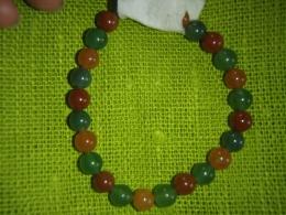 LASTELE - käevõru - aventuriin - roheline ja oranž