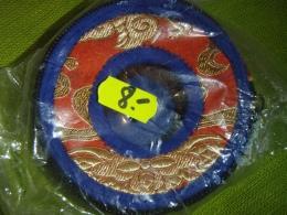 Kott Tiibeti kelladele - punane-sinine - 9 cm - VIIMANE