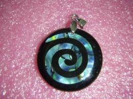 Abalone pärlikarp - kaunis ripats - Spiraal