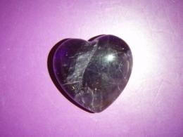 Ametüst - lihvitud süda