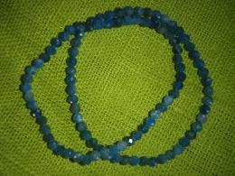 Apatiit - sinine - fassett-helmestest käevõru - UUS
