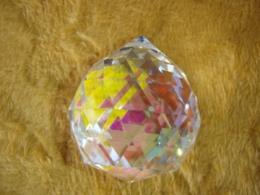 FENG SHUI kristallripats -- värviline kristallkuul 40 mm - VIIMASED