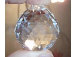 FENG SHUI kristallripats -- Läbipaistev kristallkuul 40 mm