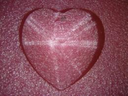 Feng Shui päikesepüüdja - suur kristallsüda - läbipaistev