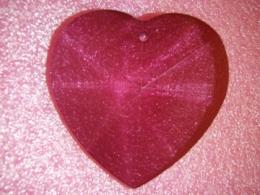 Feng Shui päikesepüüdja - suur kristallsüda - lillakasroosa - KEVADINE ALLAHINDLUS