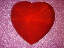 Feng Shui päikesepüüdja - suur kristallsüda - punane - VIIMANE
