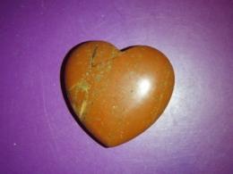 Jaspis - punane jaspis - lihvitud süda 4 cm