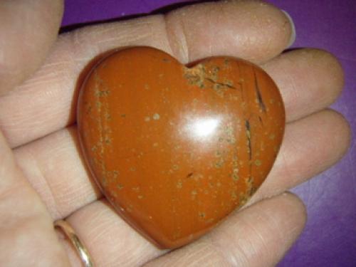 2ee24910d26 Jaspis - punane jaspis - lihvitud süda