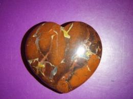 Jaspis - punasekirju jaspis - lihvitud süda 4 cm