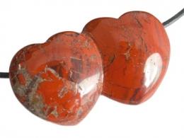 Jaspis - punane jaspis - ripats - topeltsüda - UUS