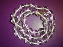 Mäekristall - helmed 8 mm - kaelakee - ca 45 cm