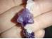 Ametüst - tsipsidest käevõru roosa kvartsiga