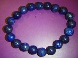 Lasuriit (Lapis Lazuli) - fassett-ja ümaratest helmestest käevõru