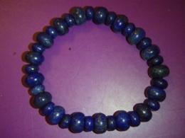 Lasuriit (Lapis Lazuli) - helmestest ja rondellidest käevõru