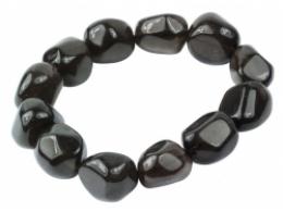 Obsidiaan - lihvitud Apatši pisar - käevõru - VIIMASED