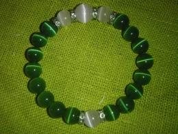 Kassisilm - käevõru - roheline-valge