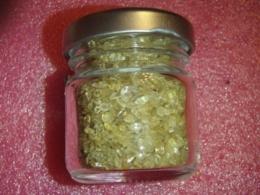 Tsitriin - lihvitud kristallid purgis
