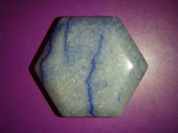 Kvarts - sinine kvarts - pihukivi - heksagon