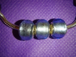 Klaashelmes Pandora käevõrule - hõbesinine
