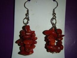 Korall - punane korall - kõrvarõngad  - KEVADINE ALLAHINDLUS