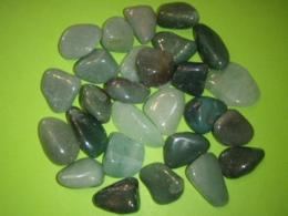 Aventuriin - roheline - lihvitud - Kristallimandala loomiseks