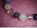 Erinevad poolvääriskivid -  käevõru - Kuldne kolmik - roosa kvarts, ametüst ja mäekristall