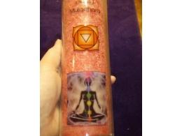 Tšakra-lõhnaküünal  - 1. tšakra - klaaspurgis