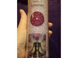 Tšakra-lõhnaküünal  - 7. tšakra - klaaspurgis