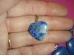 Lasuriit (Lapis Lazuli) - südamekujuline ripats