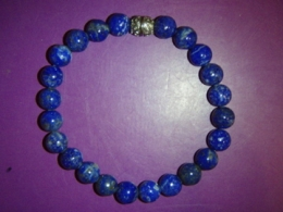 Lasuriit (Lapis Lazuli) - ümaratest helmestest käevõru