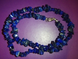 Lasuriit (Lapis Lazuli) - lasuriit - tsipsidest kaelakee
