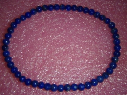Lasuriit (Lapis Lazuli) - ümaratest helmestest käevõru - ALLAHINDLUS