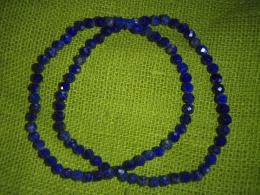 Lasuriit (Lapis Lazuli) - fassett-helmestest käevõru - UUS