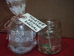 Tuletee kristalliküünal - geelküünal kristallidega - VIIMASED - ALLAHINDLUS