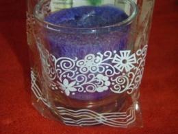 Lõhnaküünal - kristallidega - lasuriit