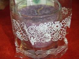 Lõhnaküünal - kristallidega - ametüst